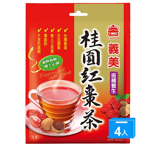 義美桂圓紅棗茶15G*12*4【愛買】