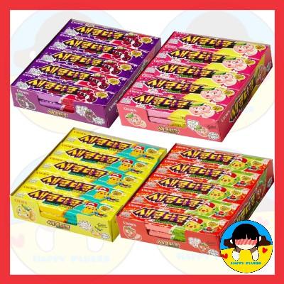 crown 皇冠糖醋味29g * 15片(草莓,檸檬水,葡萄,桃子)嚼焦糖糖果 / 韓國 / 韓國零食 / kfood
