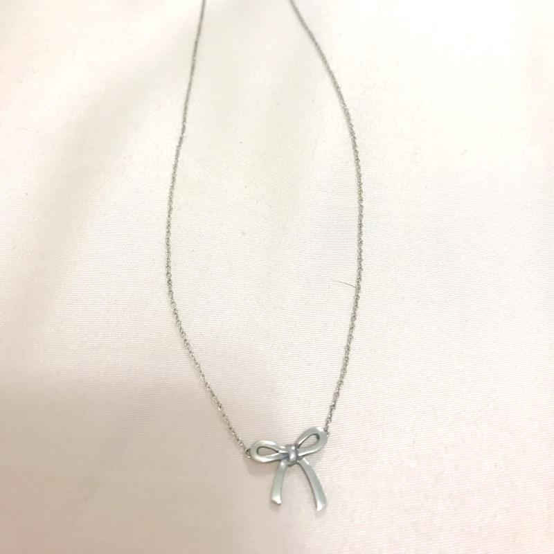 Tiffany&co 純銀蝴蝶結項鍊