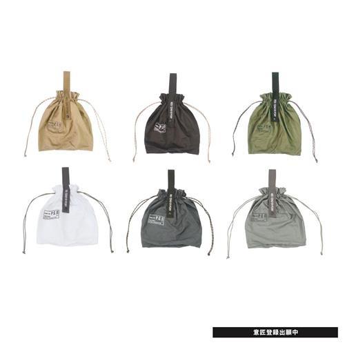 【PostGeneral】超輕量尼龍折疊收納束口袋(玄黑色) 982040040