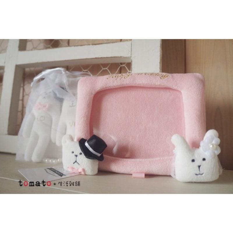 ˙TOMATO生活雜鋪˙日本進口雜貨 CRAFTHOLIC限定花嫁新郎熊新娘兔子布偶軟相框家飾 擺飾婚禮裝飾