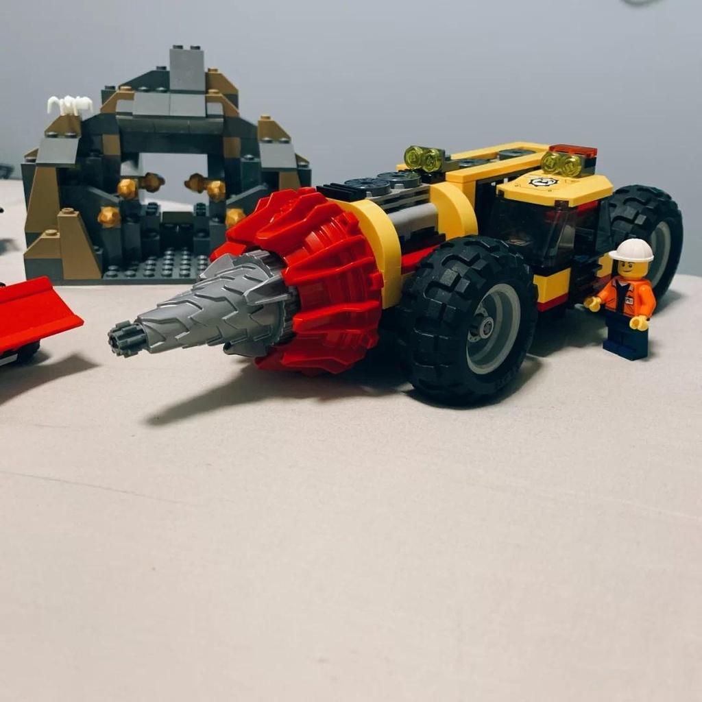 【兔兔家】兼容樂高60186城市系列重型采礦場鉆孔機專家基地樂高積木玩具男