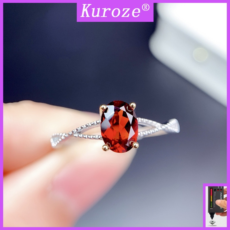 [GRA]時尚新款鴿血紅鑽石開口戒指