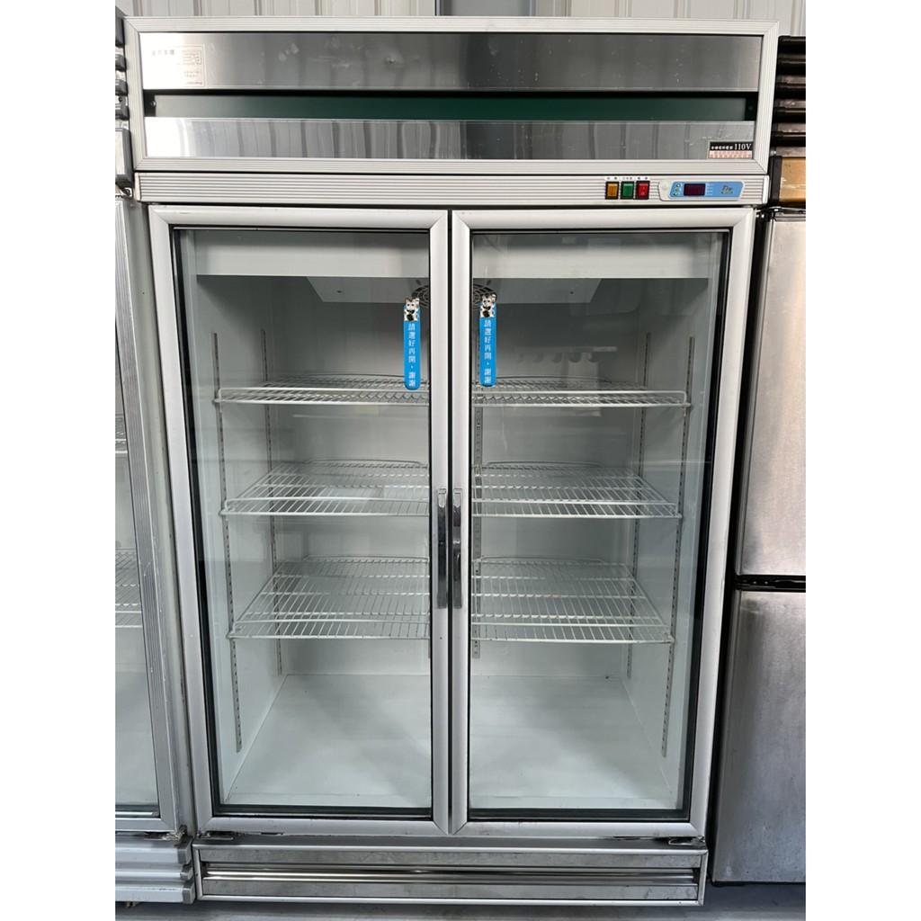 二門玻璃冷藏冰箱(四尺).營業用.二手.中古