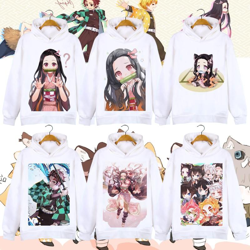定制 鬼滅之刃彌豆子炭治郎男女童親子裝(冬季內裡加絨)連帽T Shirt衣服(CXJ-7)