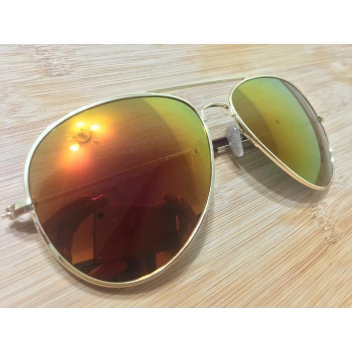 【 U&B 】美國經典飛行風墨鏡(3026橘黃色鏡面)