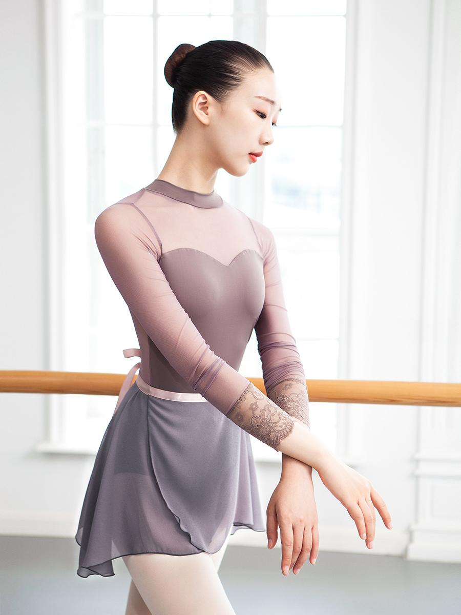 O3I3 小茉莉芭蕾舞裙成人女半身裙一片裙芭蕾舞練功服雪紡舞蹈短紗裙