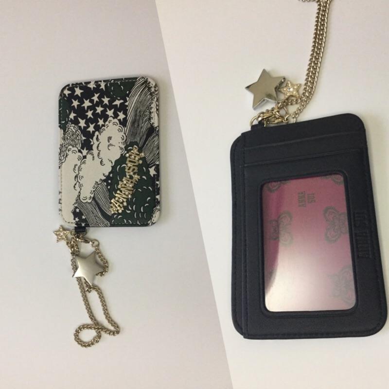 日本 ANNA SUI造型星鑽零錢包&票卡夾