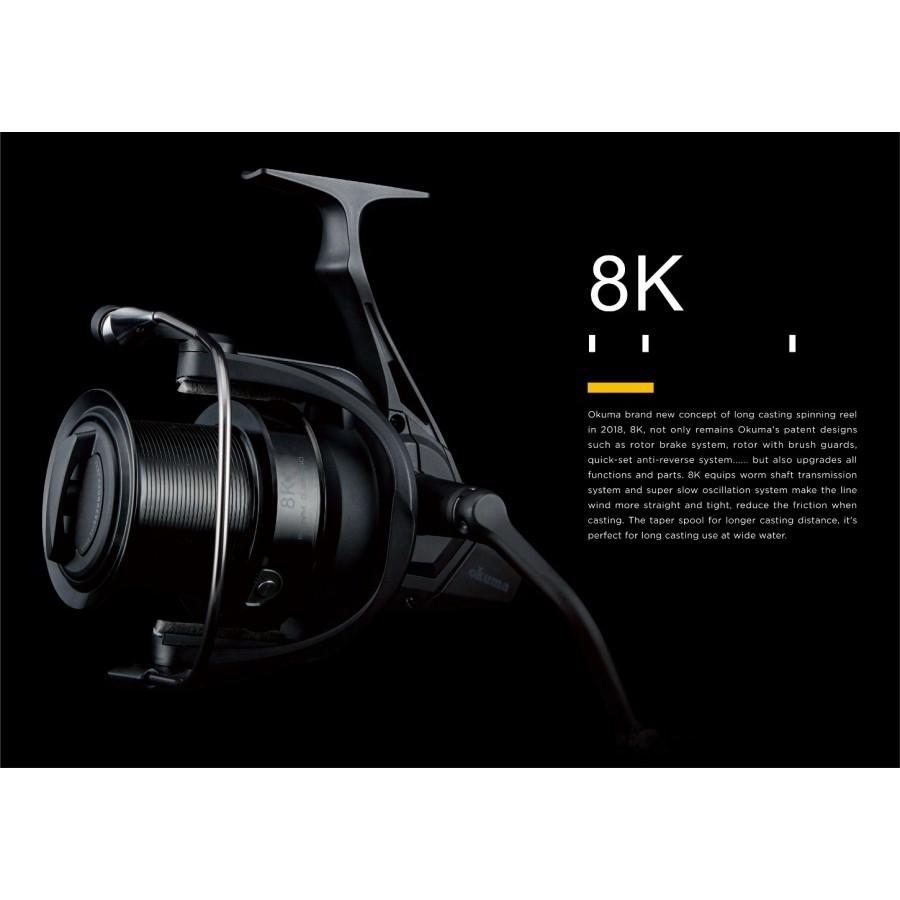 免運 OKUMA 8K 黑色 遠投捲線器 Fishing Reel Okuma 8K