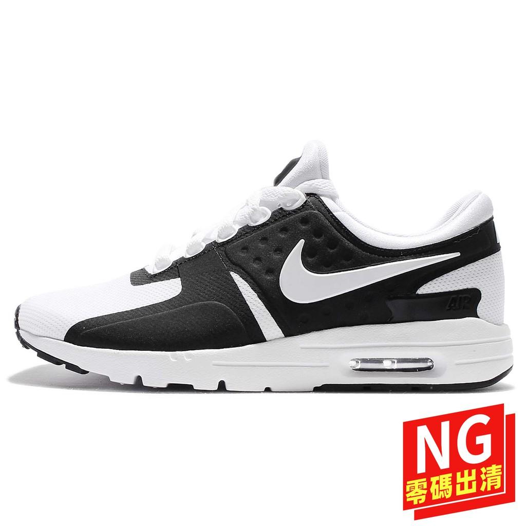 Nike Wmns Air Max Zero 857661006 黑 白 休閒慢跑鞋 女鞋【ACS】(8.5)