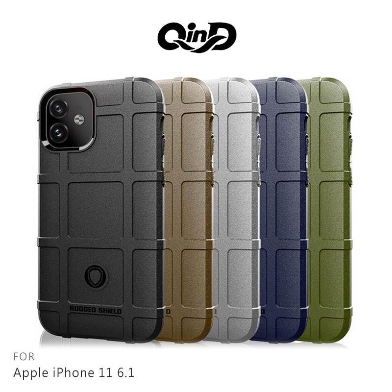 QinD Apple iPhone 11 6.1 戰術護盾保護套 保護殼 防摔 蘋果 手機殼 鏡頭加高 軍工加厚