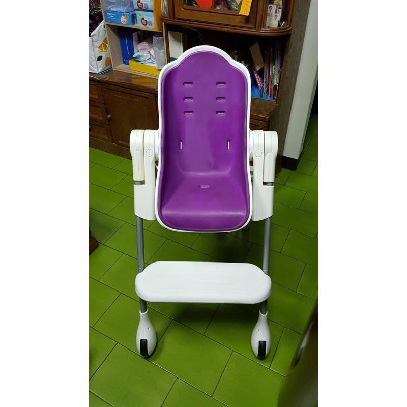 二手 新加坡Oribel 成長型多功能高腳餐椅-紫