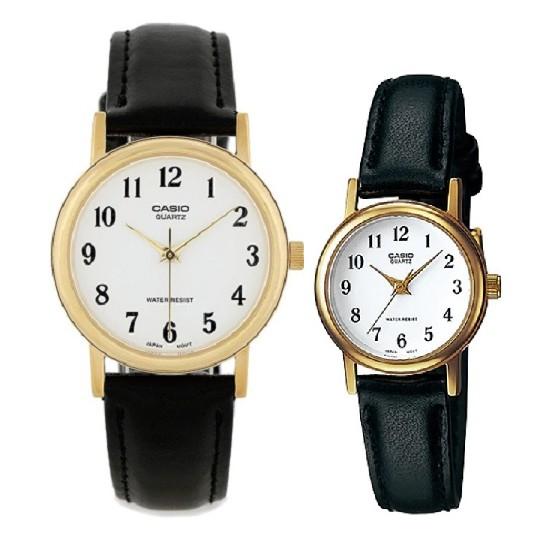【CASIO】卡西歐 CASIO復古小皮錶 對錶MTP-1095Q-7B + LTP-1095Q-7B台灣卡西歐保固一年