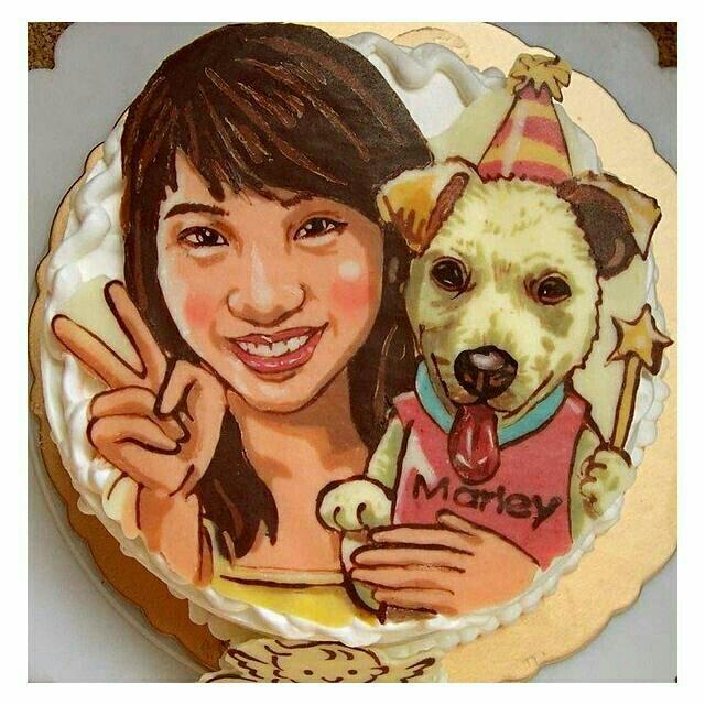 【寶屋】客製化獨一無二手繪單人+寵物Q版肖像6~10吋蛋糕 送手繪稿