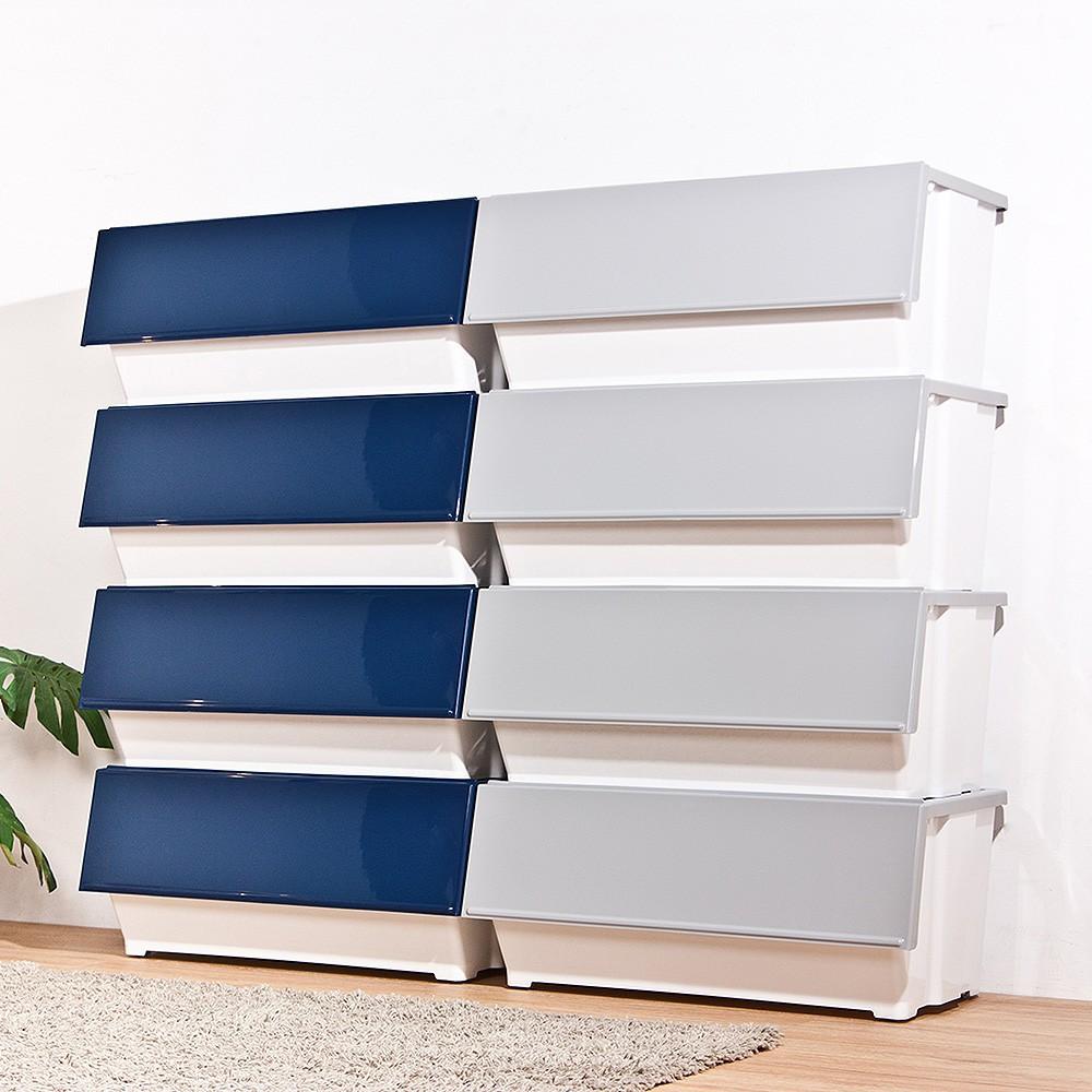 特賣 免運『網路熱銷款』HOUSE 大容量-威爾磁吸下掀式可堆疊附輪加厚收納箱 39L/60L 多入可選 收納箱/整理箱