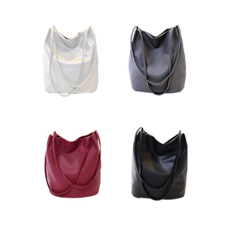 promo code 8cfb8 5574a BANG 素面水桶包 皮革包 側背包 肩背包 手提包 大容量 A4可用 經典 復古 潮流 單肩 斜跨 女包【BS02】