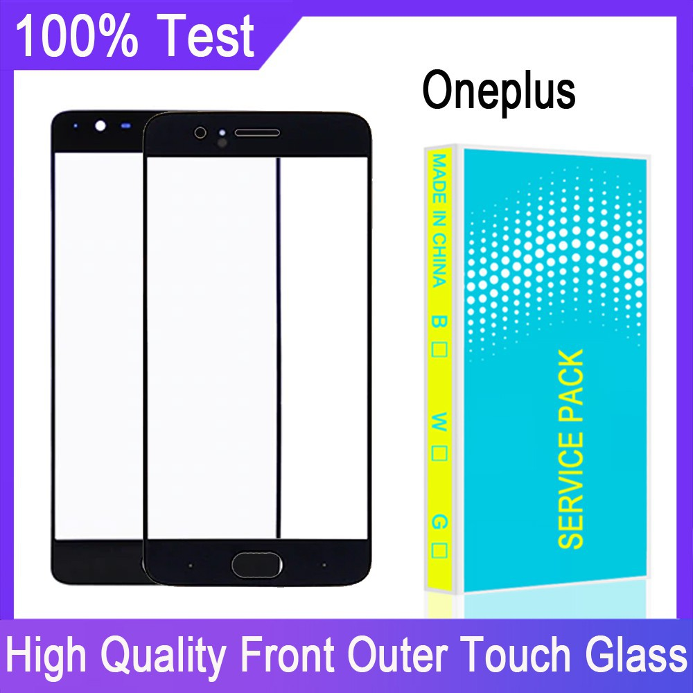 前置玻璃面板 Oneplus 3 3T 5 5T 6 6T 7 7T 7 Pro 8 8 Pro 前外觸摸屏玻璃 帶邊框