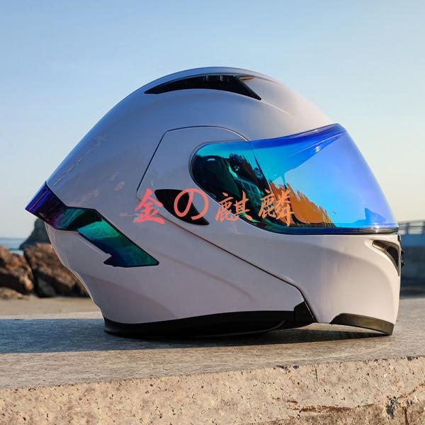 ORZ機車頭盔男女全盔四季個性尾翼揭面盔藍牙安全帽時尚潮流酷炫 機車 安全帽