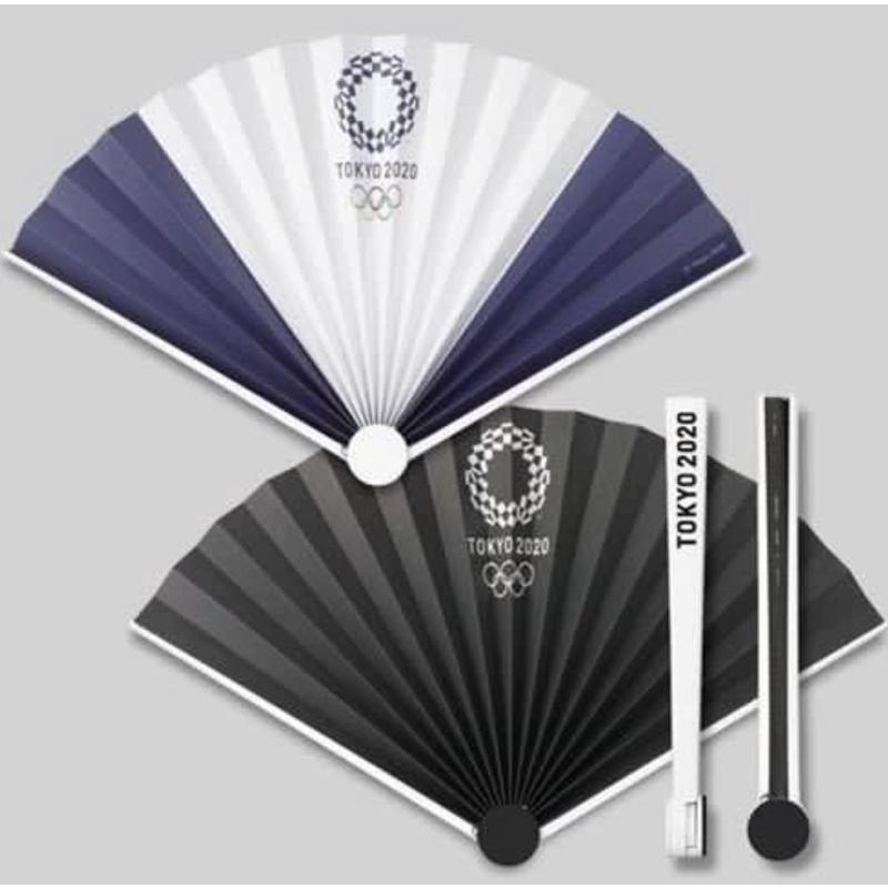 [現貨]東京奧運周邊商品 東京奧運紀念品 扇子 黑白 2020 Tokyo