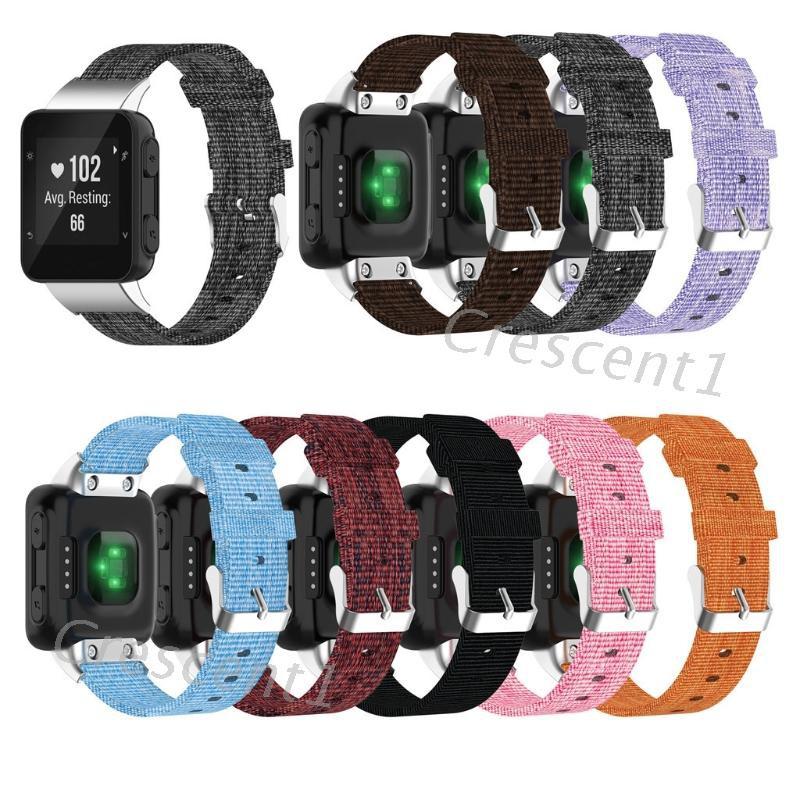 Garmin Forerunner 30 35 35j 手錶的錶帶更換尼龍錶帶腕帶