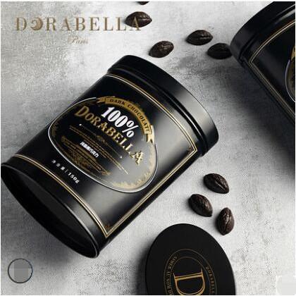 下殺!【超值2罐】純可可脂100%黑巧克力豆85% 72%純黑無蔗糖罐裝 每罐約150枚