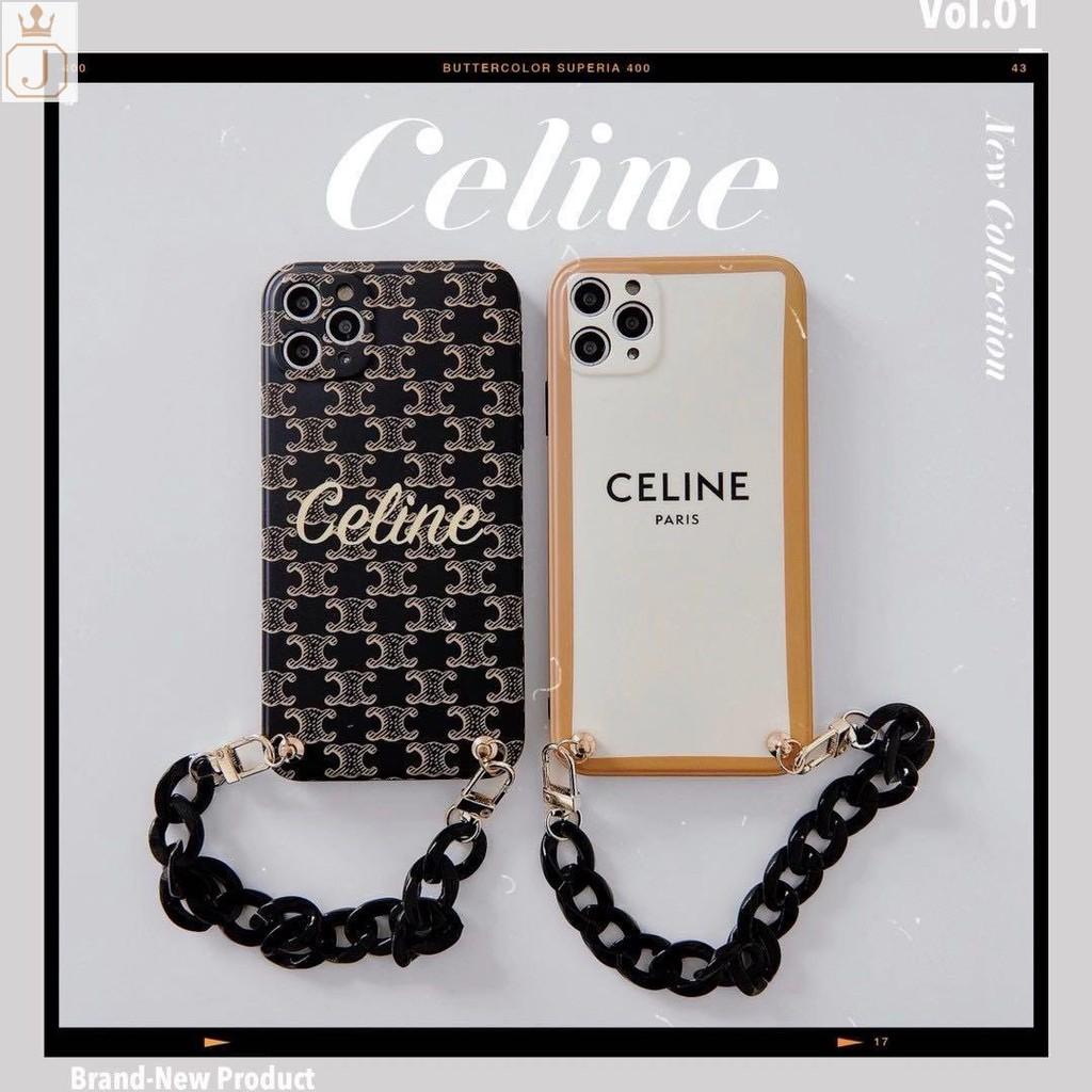 【特務J】celine手機殼 賽琳手鏈手機殼 適用於iPhone11 i7 i8 plus iX Xs XR全包防摔軟殼