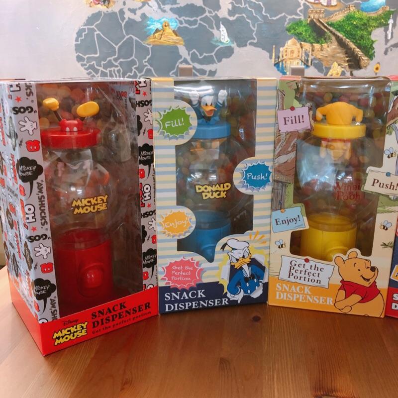 [現貨]迪士尼系列 餅乾糖果扭蛋機糖果罐(米奇/維尼/三眼怪/維尼)日本原裝 【1529設計生活】