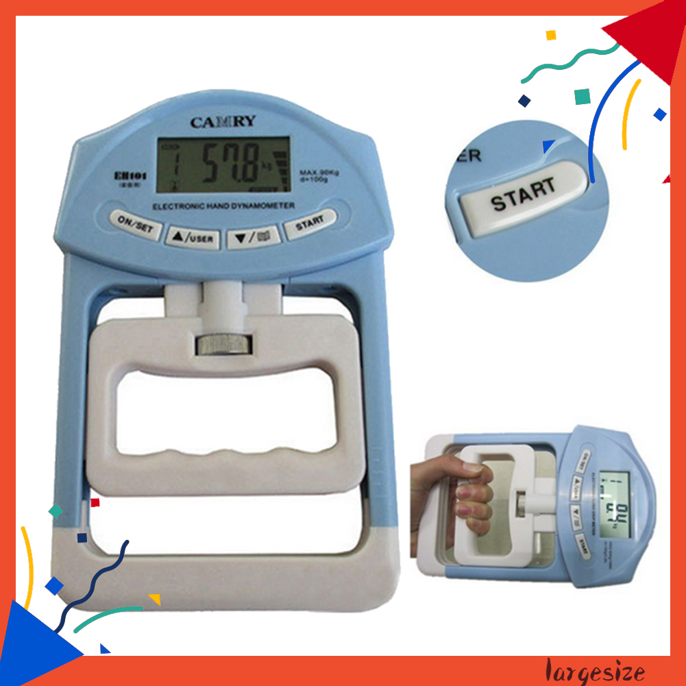 Lar _ 198lb / 90kg 電子數字液晶手握強度血壓計測量儀