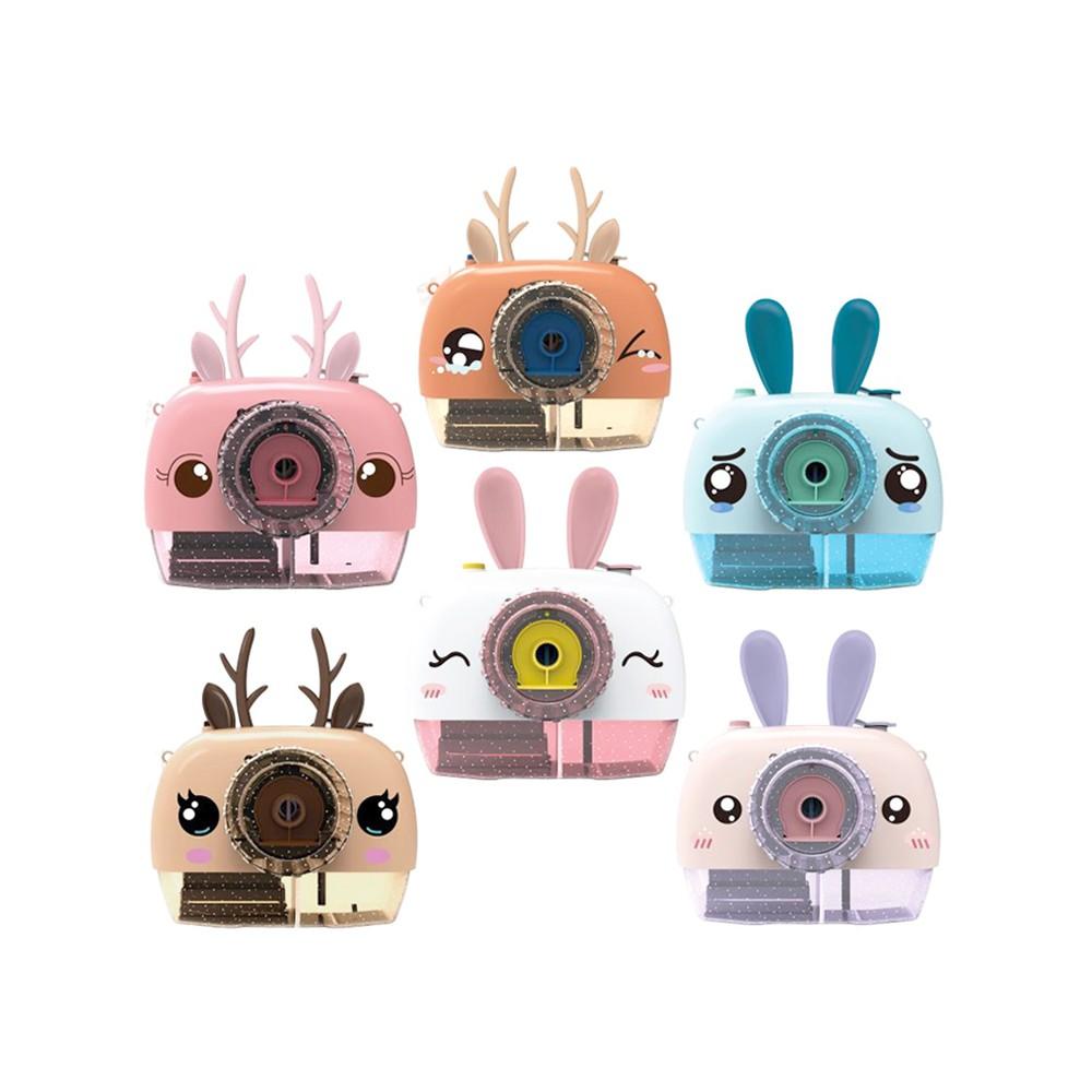 萌兔 /萌鹿防漏電動炫光音樂泡泡相機 /泡泡機玩具