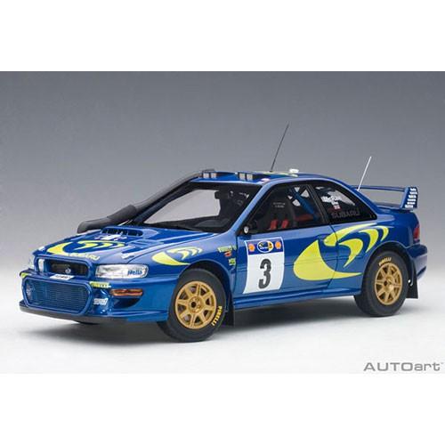 【秉田屋】盒損 Autoart Subaru Impreza No.3 1997 WRC 東非拉力賽 冠軍 1/18