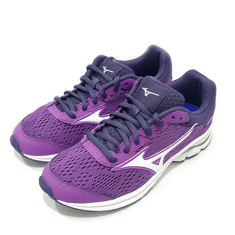 MIZUNO 美津濃 WAVE RIDER 22 JR 大童鞋 紫 K1GC183302【S.E運動】