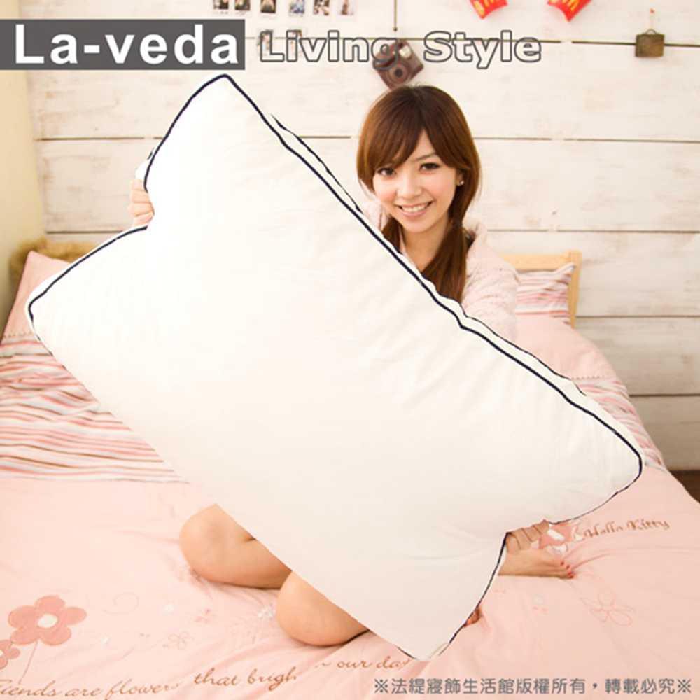 【七孔纖維羽絲絨枕】台灣製造、可水洗恆溫保暖