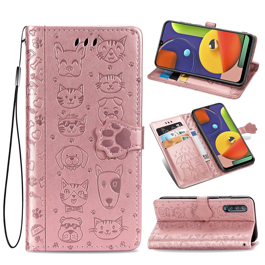 SAMSUNG 三星 Galaxy A50 Case Comel Flip 皮革三星 Galaxy A50 錢包防震外殼