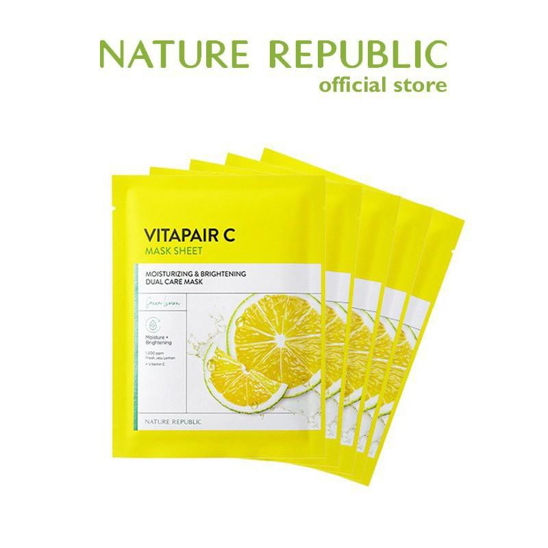 [Nature Republic] 維他命修復活力面膜 25ml x 5ea 官方旗艦店