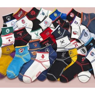 【JKL工廠店現貨】多款多色 NBA船襪 男士襪 籃球襪 運動襪 全棉襪 襪子 球隊男襪 足弓襪 裸襪  護踝 純棉