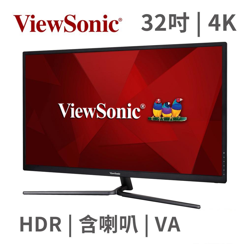 "ViewSonic 優派 VX3211-4K-MHD 31.5"" 螢幕顯示器 4K HDR VA 廠商直送 現貨"