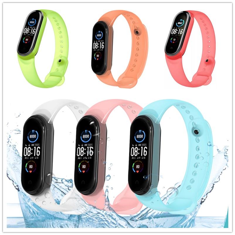 小米手環 5 6 腕帶 手環 小米5 充電線 小米手環5 小米手環6  保護貼 保護膜 矽胶 錶帶 替換腕帶 探索 透明