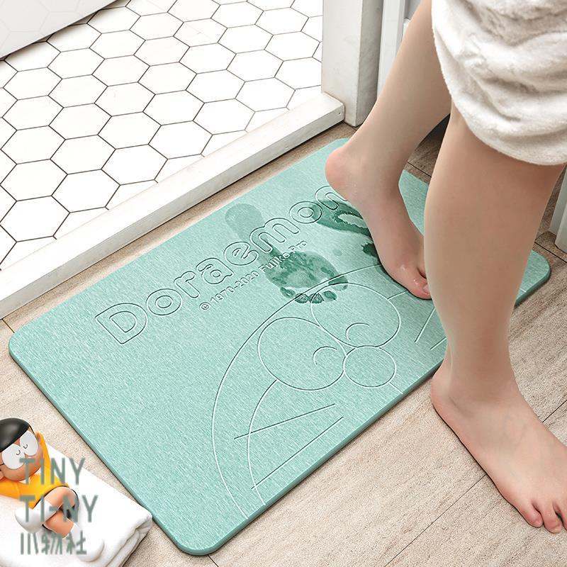 【現貨】硅藻泥吸水墊防滑腳墊地墊硅藻土家用廁所浴室衛生間速幹 哆啦a夢 小物社