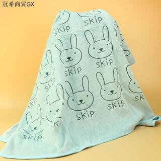 GX現貨速發➹超細纖維強力吸水洗澡專用浴巾 人寵均適用 兔子款 M號 寵物用品 嬰兒 浴巾 吸水 纖維洗澡 擦乾柔軟親膚