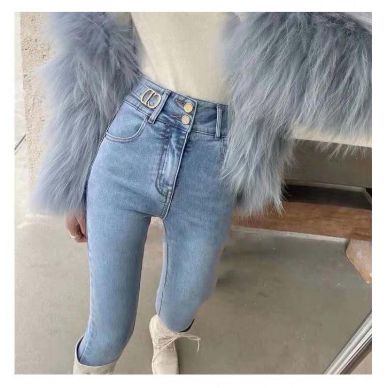 現貨❤ 熱賣 單褲/加絨 高腰緊身牛仔褲 女生小腳褲 2020新款韓版 彈力顯瘦 鉛筆褲