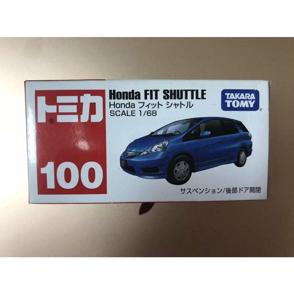 TOMICA 100 HONDA FIT SHUTTLE  (全新未開但盒損)  *現貨*