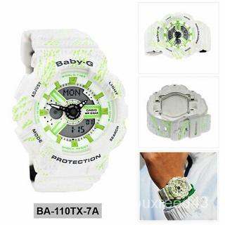 Casio卡西歐女款白色雙顯式休閒手錶Baby-G BA-110TX-7A 桃園市