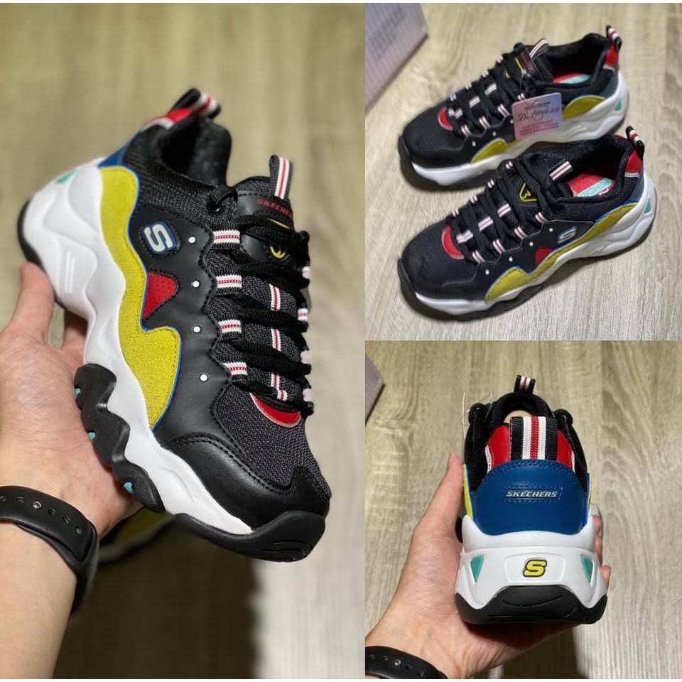 #現貨出清特價 #快標記朋友撿便宜 Skechers D'lites 3.0 女款 黑色 老爹鞋 12955/bkyl