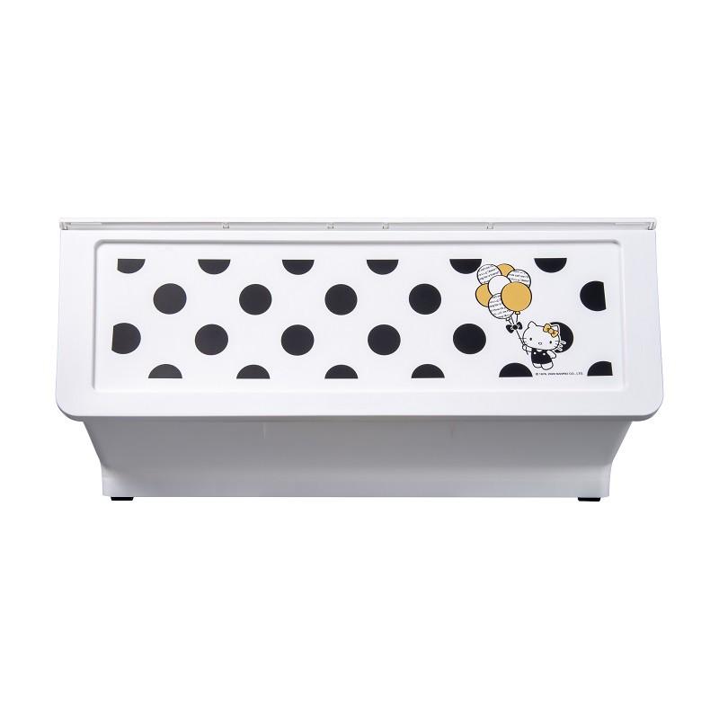 完美主義│黑點點白底Kitty大嘴鳥整理箱46L(1入) MIT台灣製 樹德 收納櫃 置物架 收納 衣櫃【R0194】