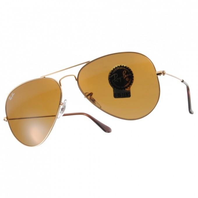 RayBan雷朋 太陽眼鏡 RB3025 00133 -58mm 經典飛行款 -金橘眼鏡