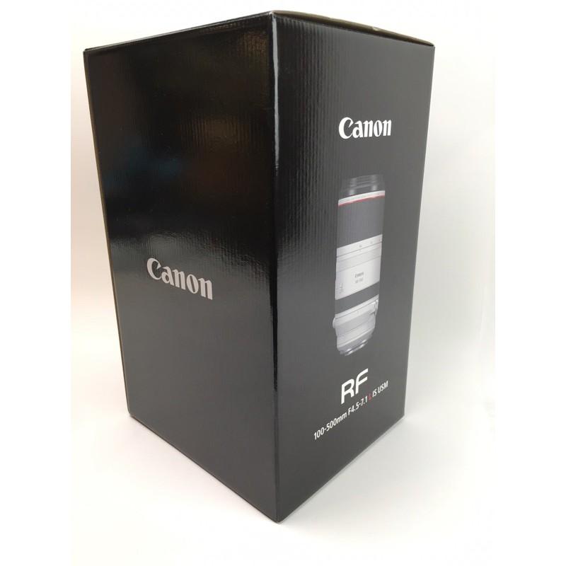 二手 Canon RF100-500mm F4-7.1L USM 超望遠變焦鏡頭 空盒 沒有鏡頭