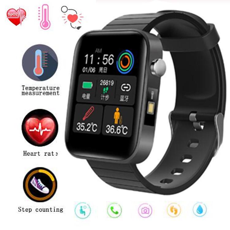 新款T68體溫智能手環 心率血壓監測藍牙運動計步手環信息提醒智能手錶 血壓手錶 運動手錶 心率 血壓血氧 監測電子錶