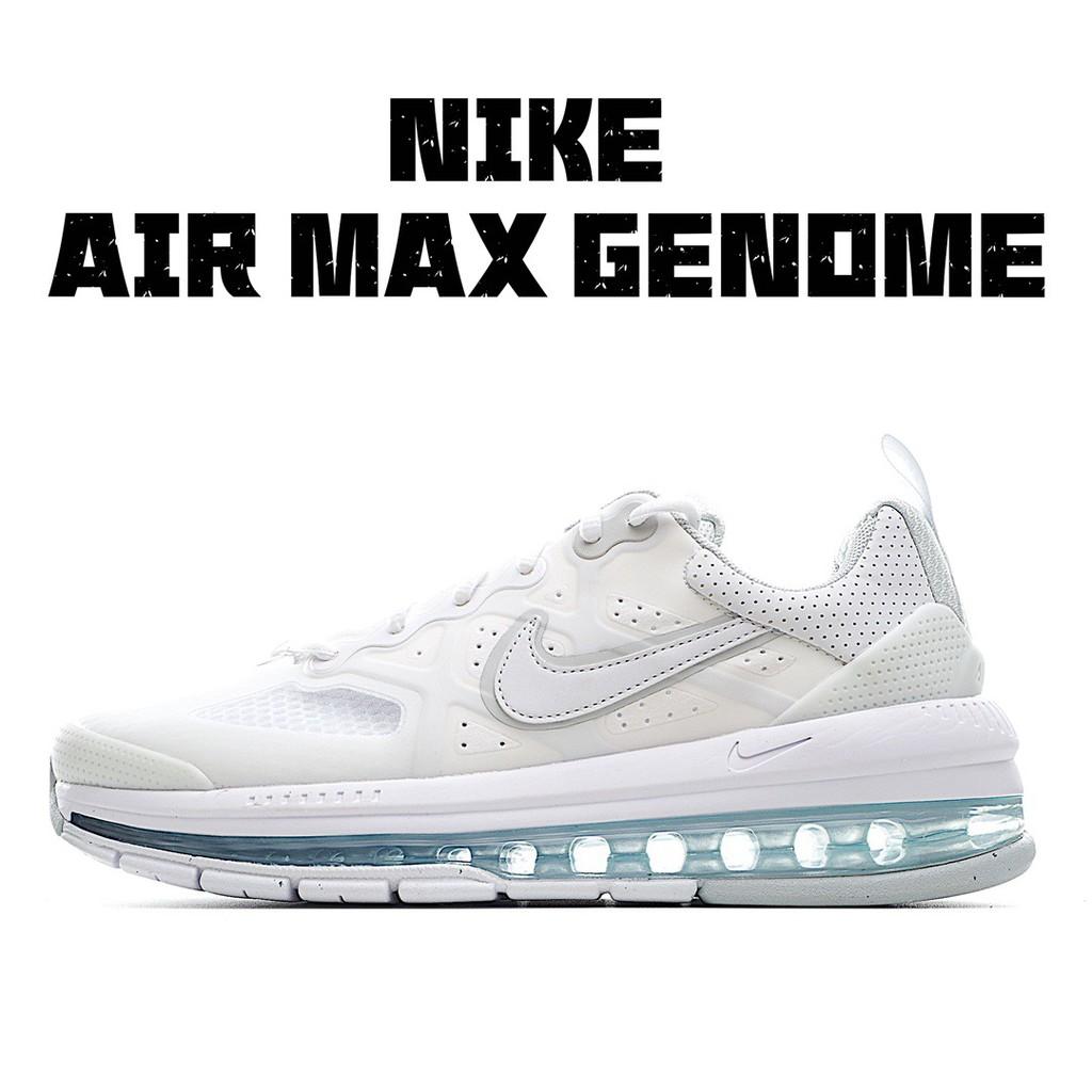 Nike耐吉 Air Max Genome 純白全掌氣墊跑鞋
