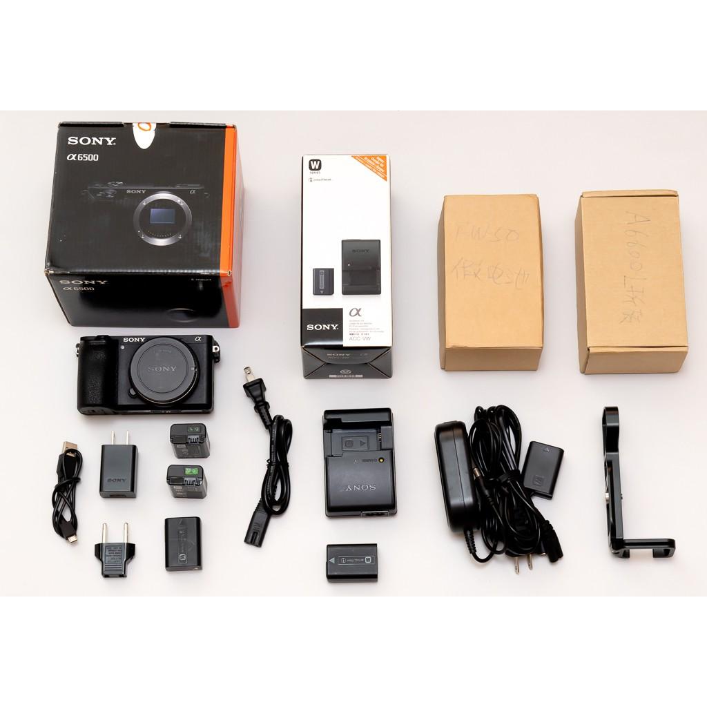 SONY A6500 二手單機身(大全配)_附四原電、原廠充電器、L型快裝板、假電池組(誠可小議)