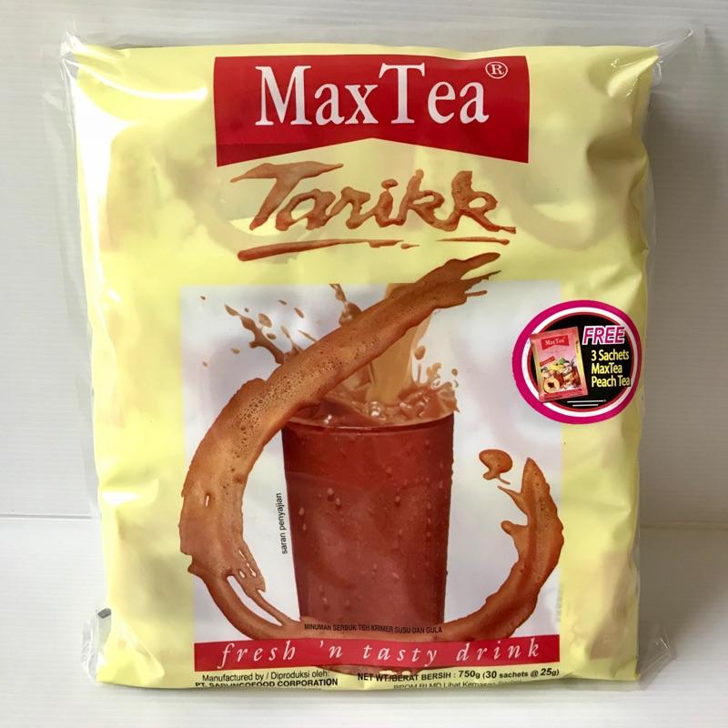 現貨 MaxTea Tarikk 美詩泡泡奶茶(印尼拉茶)30包入